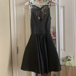 semi formal black lace dress
